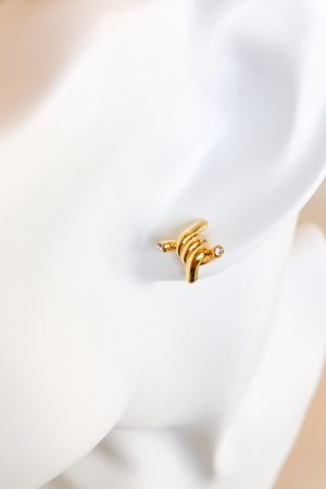 SKYE San Francisco SF California shop ethical sustainable modern minimalist quality women jewelry Azélie 18K Gold Earrings twisted knot 4