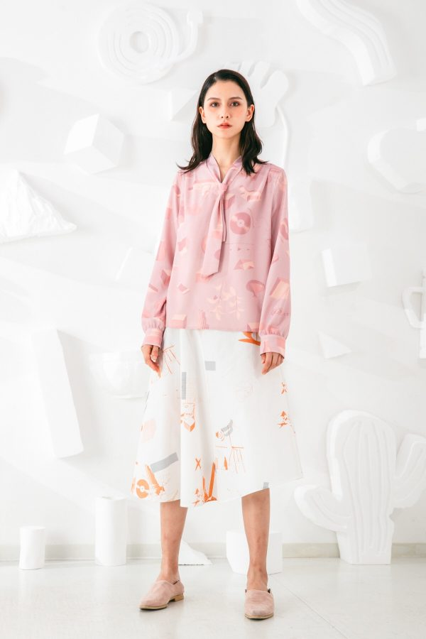 SKYE San Francisco SF shop ethical sustainable modern minimalist elegant quality women clothing fashion brand Marquis Blouse PInk