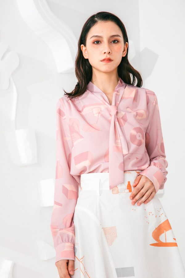SKYE San Francisco SF shop ethical sustainable modern minimalist elegant quality women clothing fashion brand Marquis Blouse PInk 3