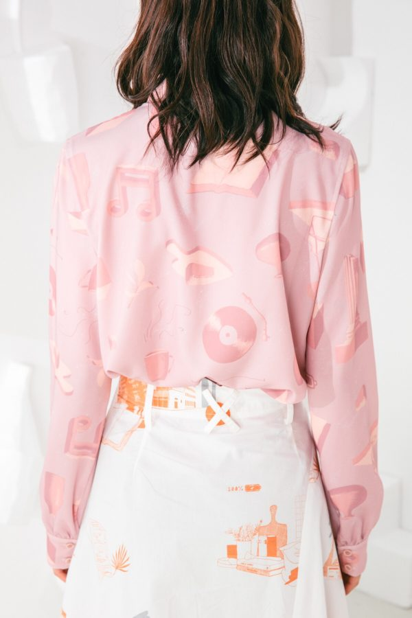 SKYE San Francisco SF shop ethical sustainable modern minimalist elegant quality women clothing fashion brand Marquis Blouse PInk 4