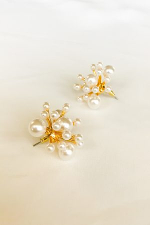 SKYE San Francisco SF shop ethical sustainable modern minimalist luxury women jewelry Spring 2020 Lumière 18K Gold Pearl Earrings 2