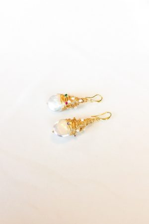 SKYE San Francisco SF shop ethical sustainable modern minimalist luxury women jewelry Spring 2020 Opale 18K Gold Freshwater Pearl Earrings 3