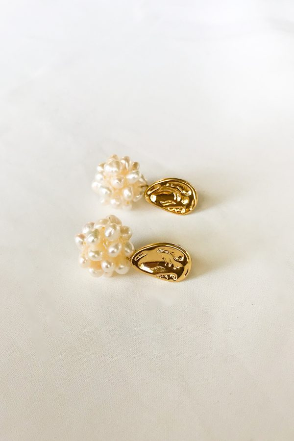 SKYE San Francisco SF shop ethical sustainable modern minimalist luxury women jewelry Spring 2020 Pipi 18K Gold Freshwater Pearl Earrings 2