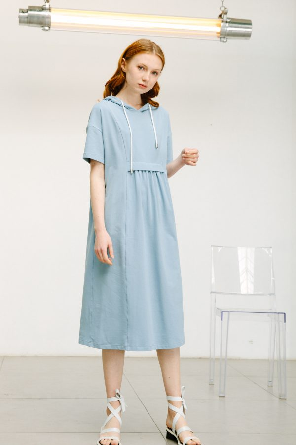 SKYE San Francisco SF shop ethical sustainable modern minimalist quality women clothing boutique fashion Spring 2020 Gage Hoodie Dress 2