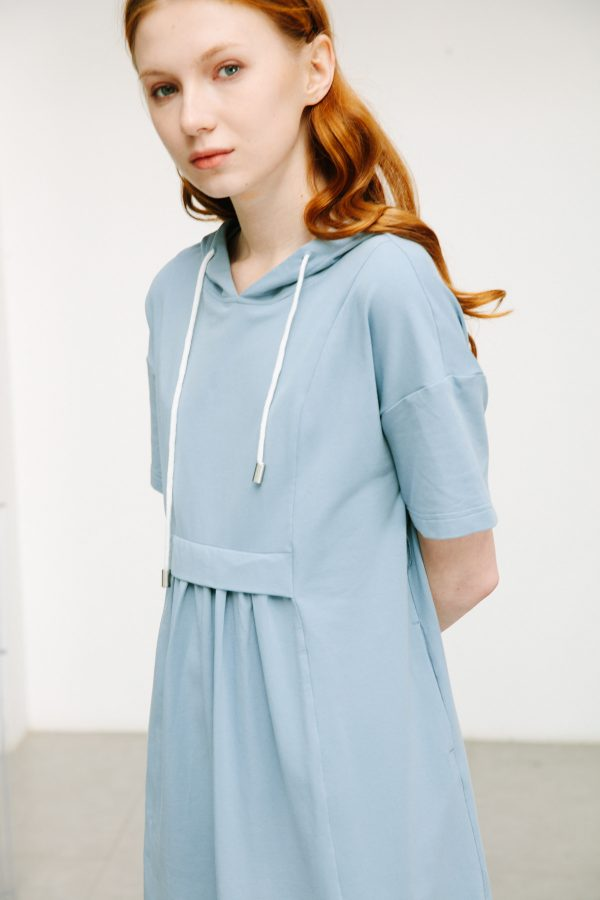SKYE San Francisco SF shop ethical sustainable modern minimalist quality women clothing boutique fashion Spring 2020 Gage Hoodie Dress 4