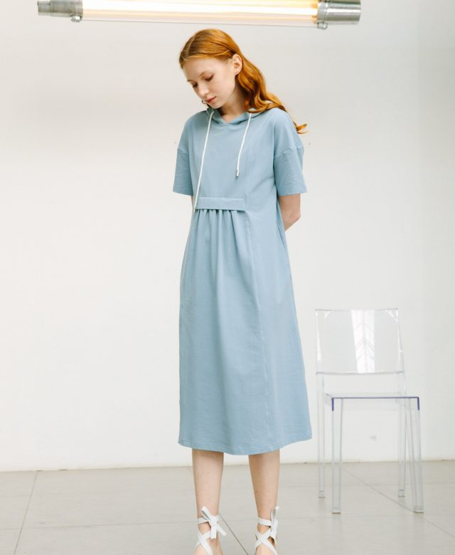 SKYE San Francisco SF shop ethical sustainable modern minimalist quality women clothing boutique fashion Spring 2020 Gage Hoodie Dress 5