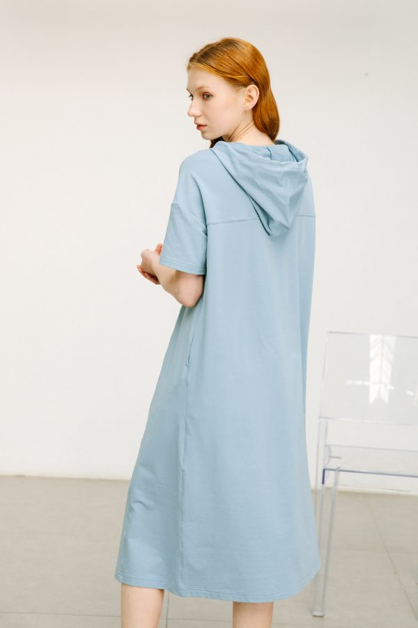 SKYE San Francisco SF shop ethical sustainable modern minimalist quality women clothing boutique fashion Spring 2020 Gage Hoodie Dress 6