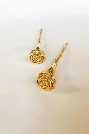 SKYE San Francisco SF shop ethical sustainable modern minimalist luxury women jewelry Spring 2020 Meline 18K Gold Earrings long stem rose 4