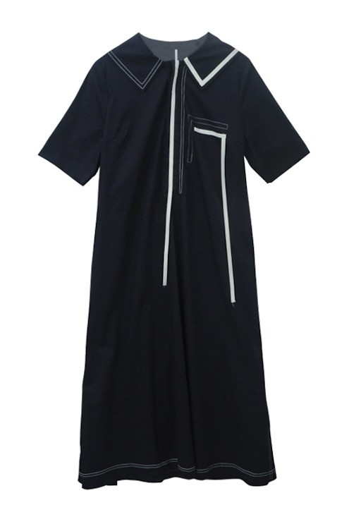 SKYE San Francisco SF shop ethical sustainable modern minimalist quality women clothing boutique fashion Spring 2020 Vivienne Dress nautical sailor navy 8