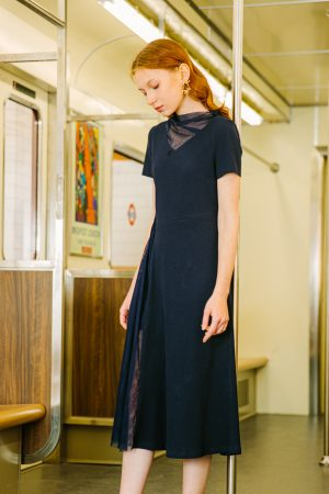 SKYE San Francisco SF California shop ethical sustainable modern minimalist luxury women fashion Corentin Dress Blue 5