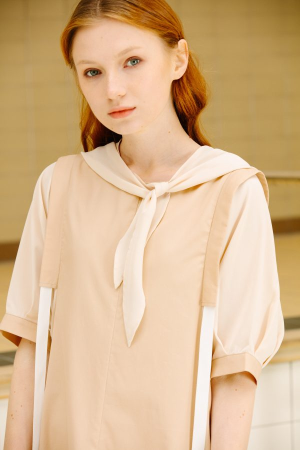 SKYE San Francisco SF California shop ethical sustainable modern minimalist luxury women fashion Enzo Dress beige 2