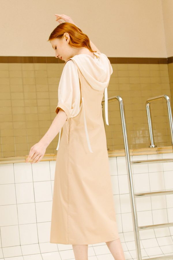 SKYE San Francisco SF California shop ethical sustainable modern minimalist luxury women fashion Enzo Dress beige 3