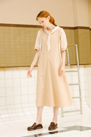 SKYE San Francisco SF California shop ethical sustainable modern minimalist luxury women fashion Enzo Dress beige 4