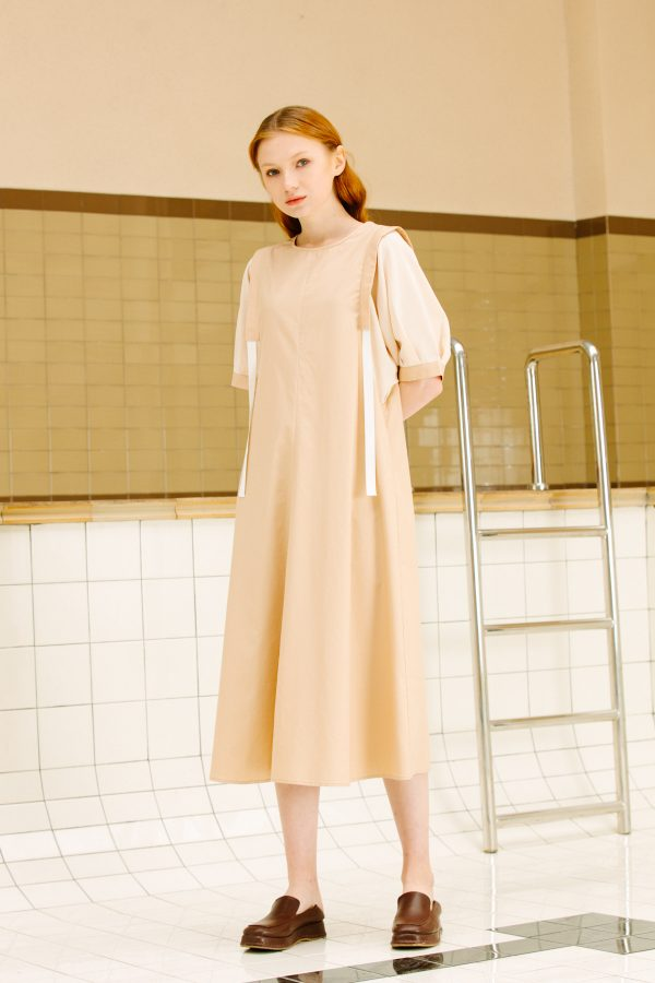 SKYE San Francisco SF California shop ethical sustainable modern minimalist luxury women fashion Enzo Dress beige 5