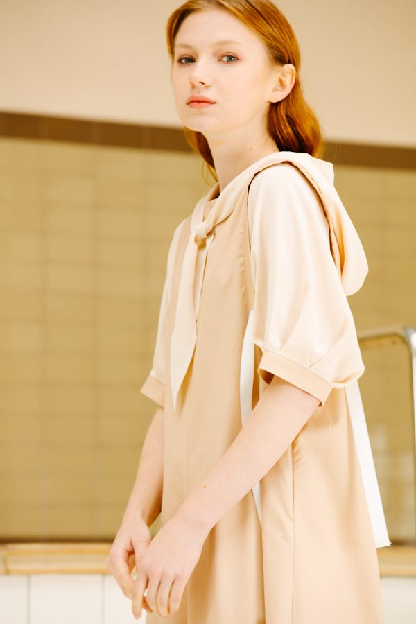 SKYE San Francisco SF California shop ethical sustainable modern minimalist luxury women fashion Enzo Dress beige 6
