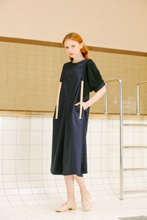 SKYE San Francisco SF California shop ethical sustainable modern minimalist luxury women fashion Enzo Dress blue 4