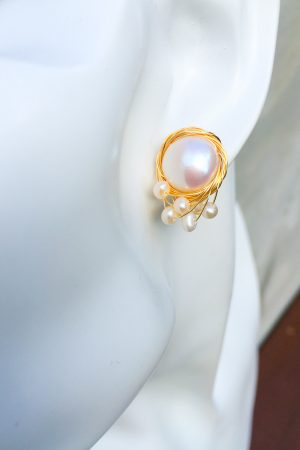SKYE San Francisco SF California shop ethical sustainable modern chic designer women jewelry Austine 18K Gold Freshwater Pearl Earrings 5