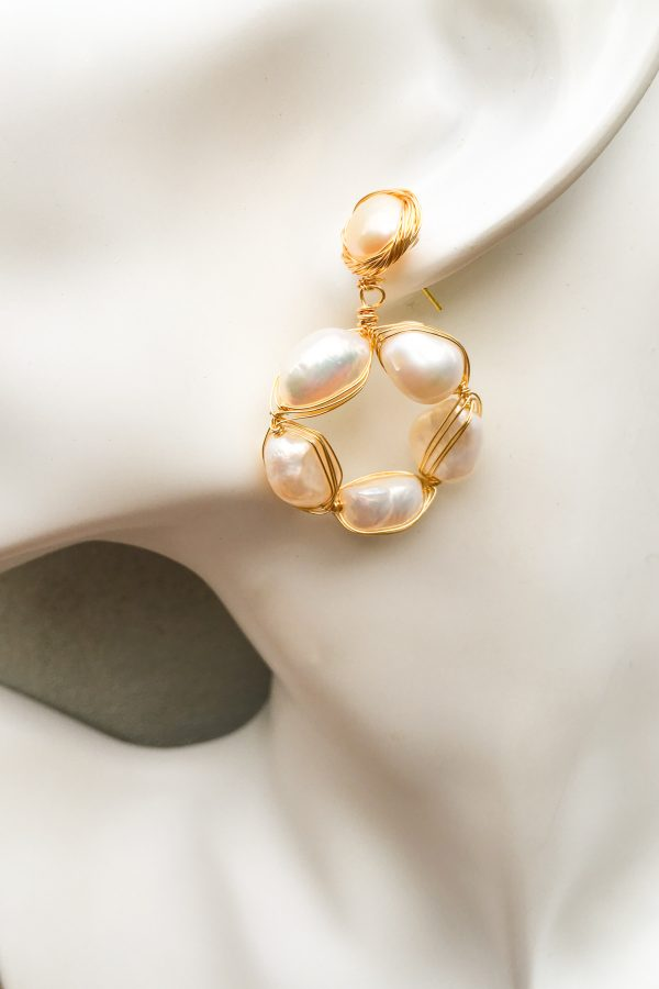 SKYE San Francisco SF California shop ethical sustainable modern chic designer women jewelry Cheree 18K Gold Freshwater Pearl Earrings 2