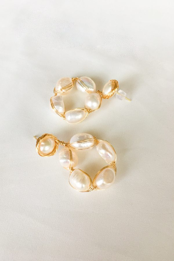 SKYE San Francisco SF California shop ethical sustainable modern chic designer women jewelry Cheree 18K Gold Freshwater Pearl Earrings