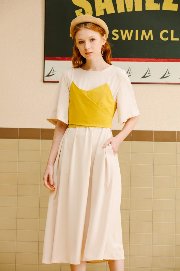 SKYE San Francisco SF California shop ethical sustainable modern minimalist luxury women fashion Lael Dress with Belt 4