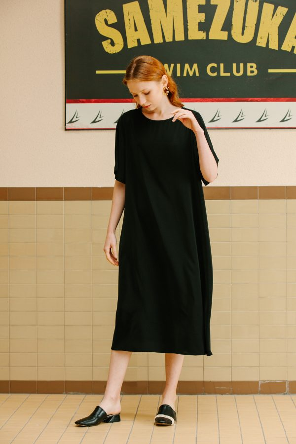 SKYE San Francisco SF California shop ethical sustainable modern minimalist luxury women fashion Lael Dress with Belt black 4