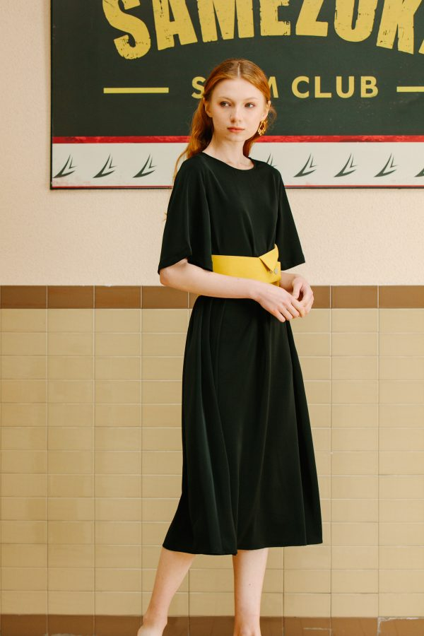 SKYE San Francisco SF California shop ethical sustainable modern minimalist luxury women fashion Lael Dress with Belt black 6