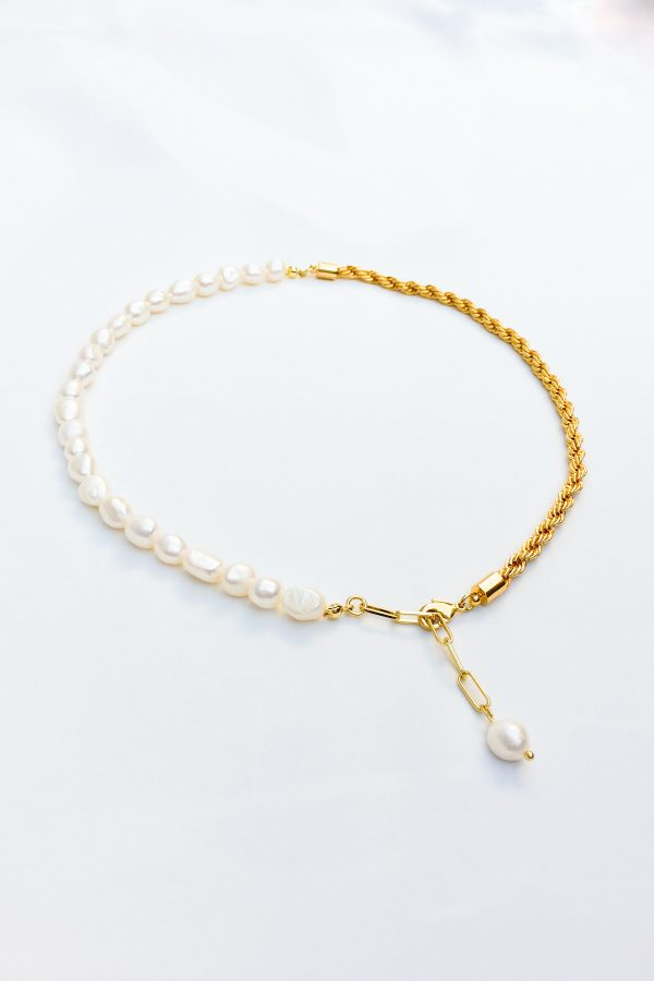 SKYE San Francisco SF California shop ethical sustainable modern chic designer women jewelry Aubin 18K Gold Freshwater Pearl Necklace 3