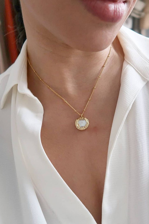 SKYE San Francisco Shop SF Chic Modern Elegant Classy Women Jewelry French Parisian Minimalist Charee 18K Gold Pearl Necklace
