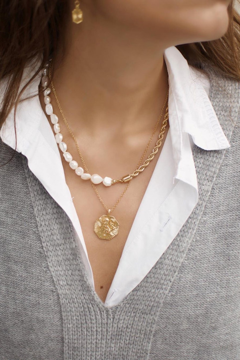SKYE San Francisco Shop SF Chic Modern Elegant Classy Women Jewelry French Parisian Minimalist Lionne Necklace Aubin