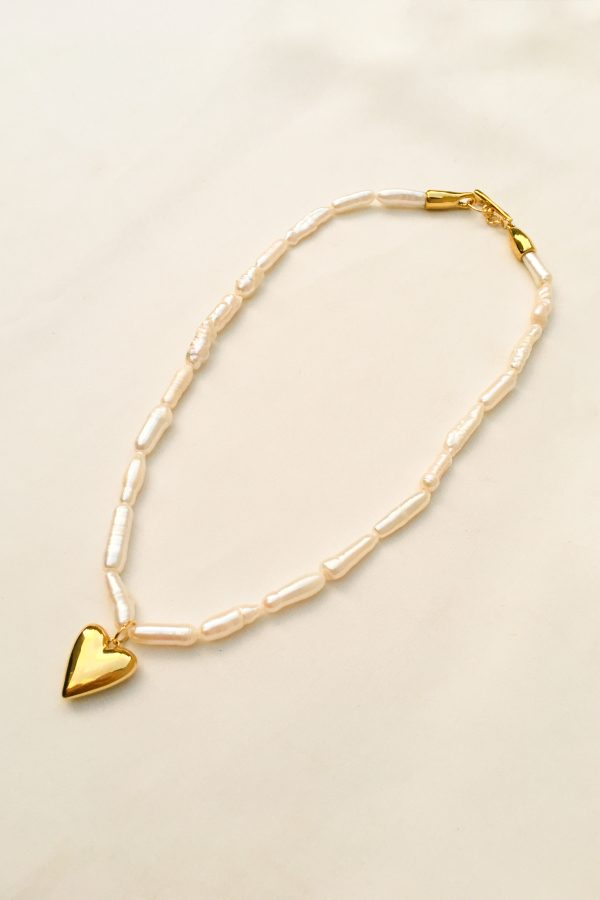 SKYE San Francisco SF California shop ethical sustainable modern chic designer women jewelry Amora 18K Gold Freshwater Pearl Necklace 2