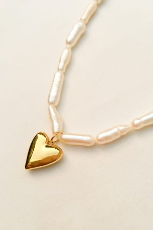 SKYE San Francisco SF California shop ethical sustainable modern chic designer women jewelry Amora 18K Gold Freshwater Pearl Necklace 4