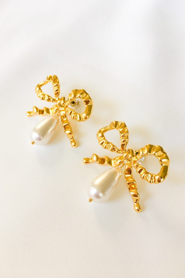 SKYE San Francisco SF California shop ethical sustainable modern chic designer women jewelry Anissa 18K Gold Bow Earrings