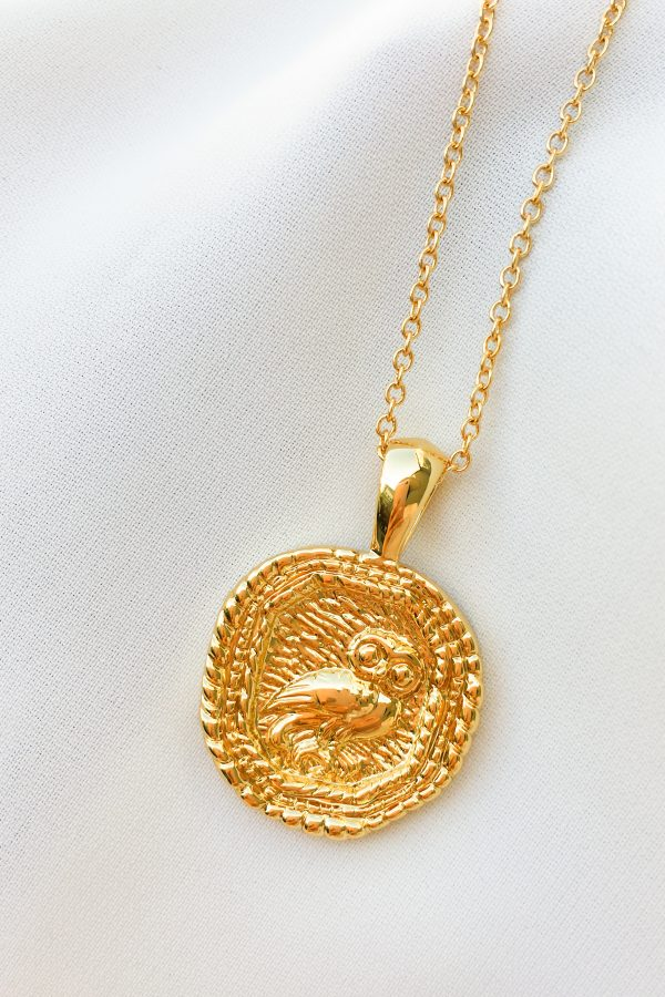 SKYE San Francisco SF California shop ethical sustainable modern chic designer women jewelry Chouette 18K Gold Medallion Necklace 2 1