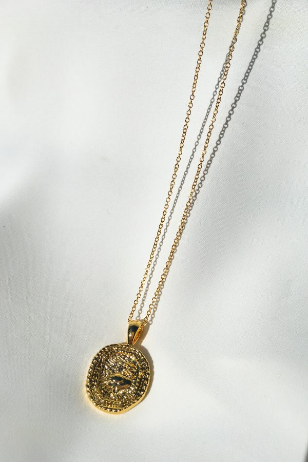 SKYE San Francisco SF California shop ethical sustainable modern chic designer women jewelry Chouette 18K Gold Medallion Necklace 3