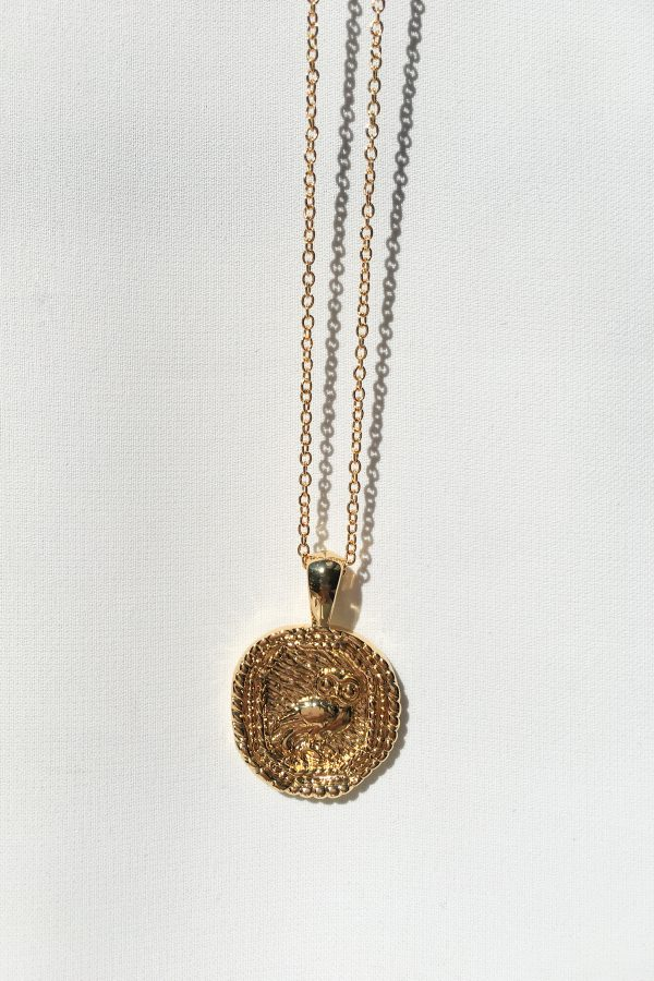 SKYE San Francisco SF California shop ethical sustainable modern chic designer women jewelry Chouette 18K Gold Medallion Necklace
