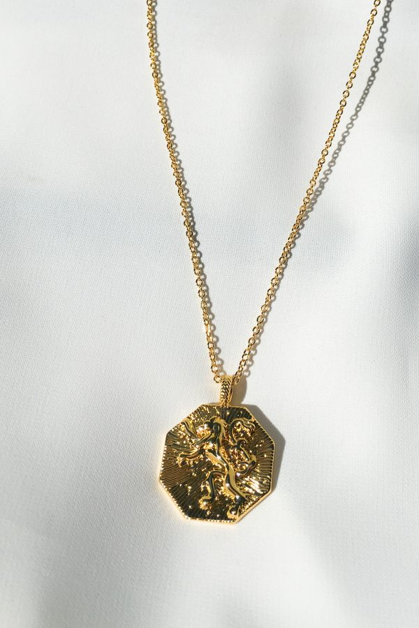 SKYE San Francisco SF California shop ethical sustainable modern chic designer women jewelry Lionne 18K Gold Medallion Necklace 3