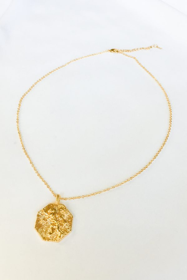 SKYE San Francisco SF California shop ethical sustainable modern chic designer women jewelry Lionne 18K Gold Medallion Necklace 5
