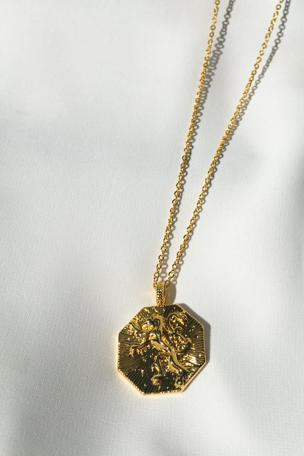 SKYE San Francisco SF California shop ethical sustainable modern chic designer women jewelry Lionne 18K Gold Medallion Necklace