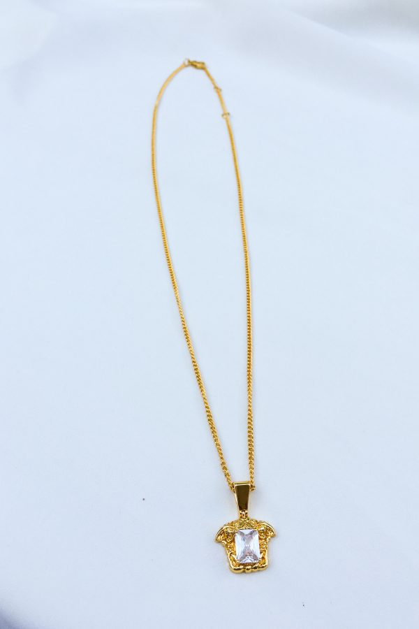 SKYE San Francisco SF California shop ethical sustainable modern chic designer women jewelry Meduse 18K Gold Crystal Necklace 5