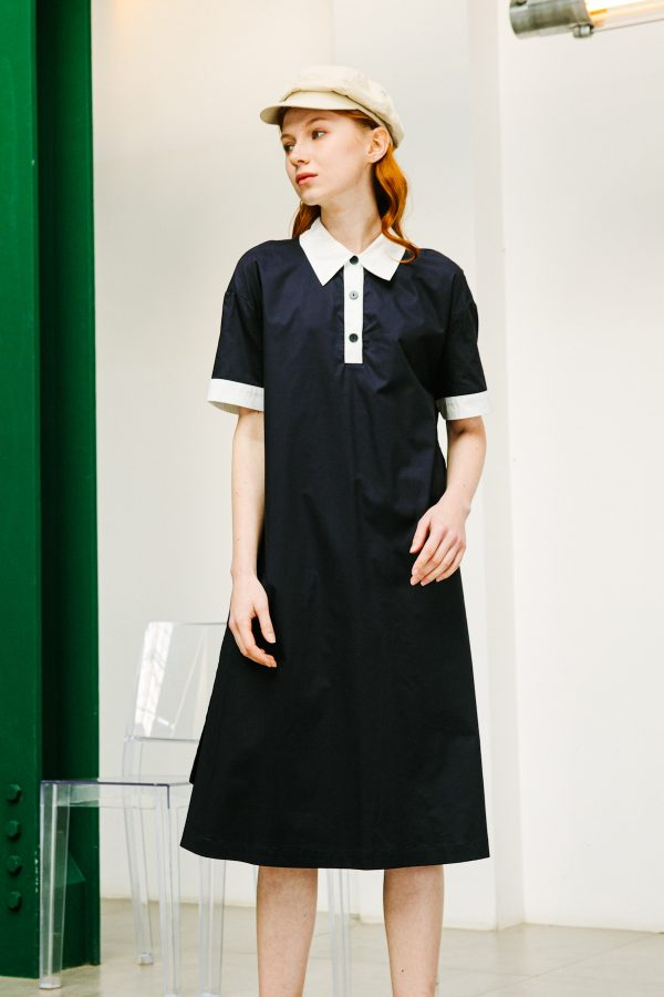 SKYE SF SAN FRANCISCO SHOP MINIMALIST CHIC WOMEN CLOTHING ETHICAL SUSTAINABLE MODERN CALIFORNIA Lucille Dress blue 5