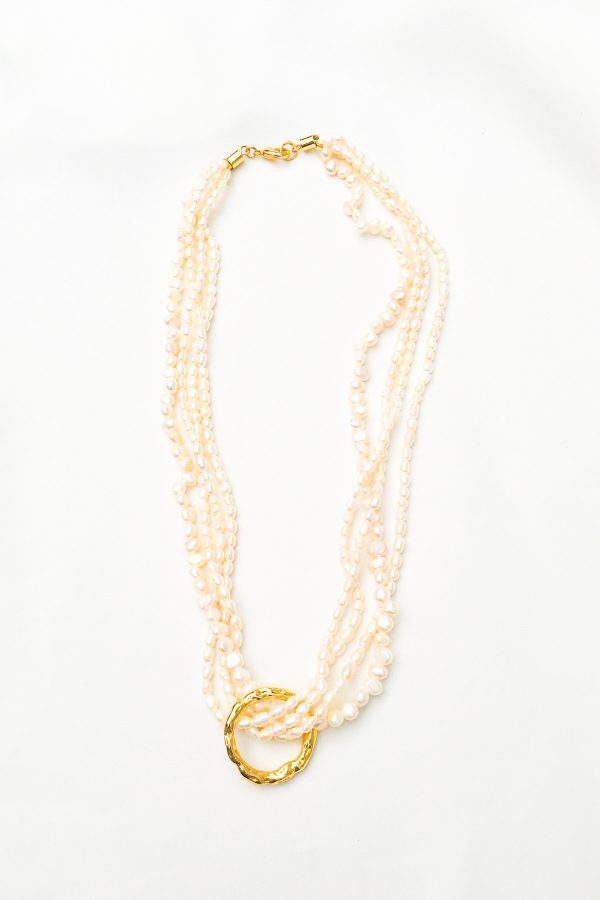 SKYE San Francisco SF California shop ethical sustainable modern chic designer women jewelry Dolcina 18K Gold Freshwater Pearl Necklace 5