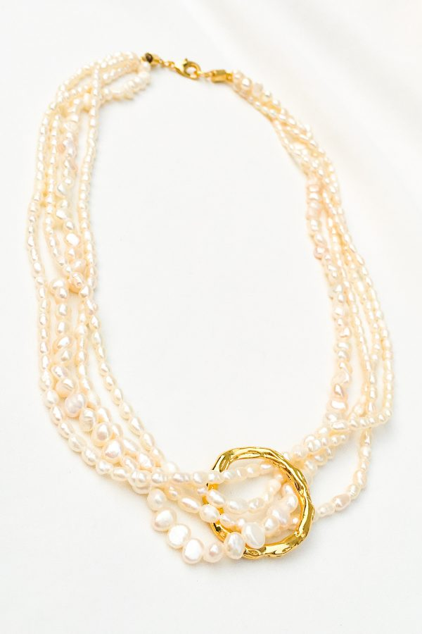SKYE San Francisco SF California shop ethical sustainable modern chic designer women jewelry Dolcina 18K Gold Freshwater Pearl Necklace
