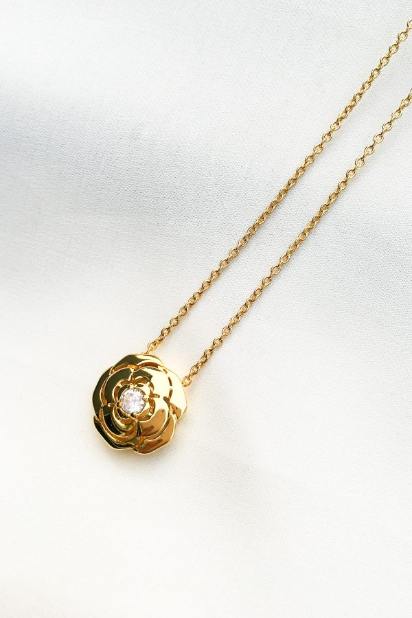SKYE San Francisco SF California shop ethical sustainable modern chic designer women jewelry Elise 18K Gold Crystal Necklace 2