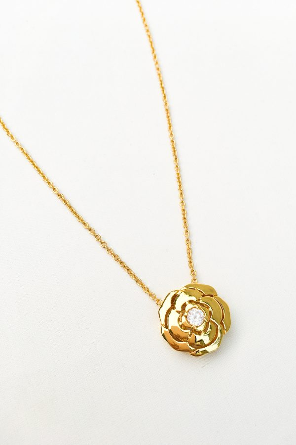 SKYE San Francisco SF California shop ethical sustainable modern chic designer women jewelry Elise 18K Gold Crystal Necklace 3