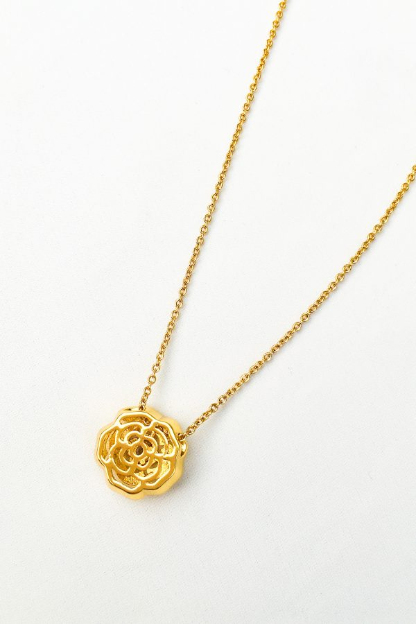 SKYE San Francisco SF California shop ethical sustainable modern chic designer women jewelry Elise 18K Gold Crystal Necklace 5