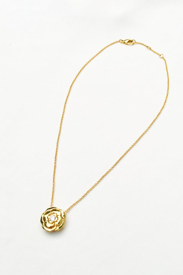 SKYE San Francisco SF California shop ethical sustainable modern chic designer women jewelry Elise 18K Gold Crystal Necklace