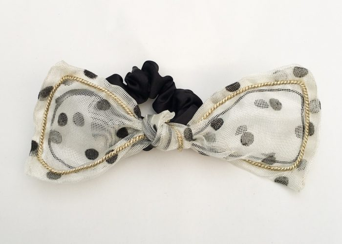 SKYE San Francisco SF California shop ethical sustainable modern chic designer women jewelry Lilla Polka Dot Bow Scrunchie 5