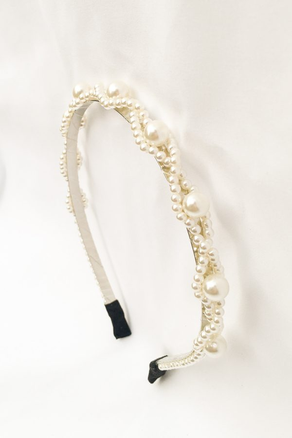 SKYE San Francisco SF California shop ethical sustainable modern chic designer women jewelry Lucie Pearl Headband 2