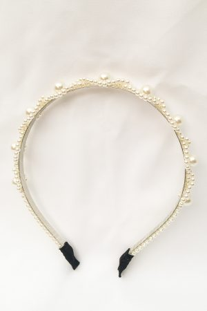 SKYE San Francisco SF California shop ethical sustainable modern chic designer women jewelry Lucie Pearl Headband