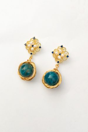 SKYE San Francisco SF California shop ethical sustainable modern chic designer women jewelry Theodora 18K Gold Earrings 3